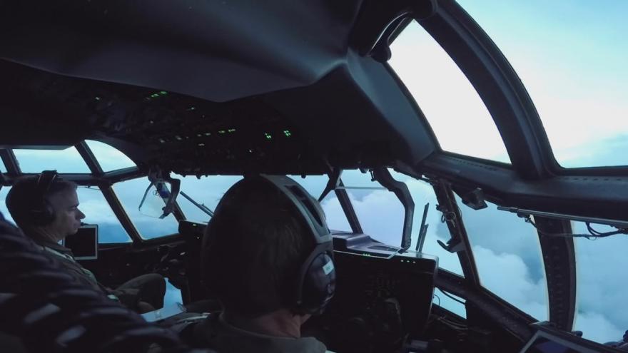 Video Lovci hurikánů a Florence: unikátní záběry amerického letectva Air Force přímo ze vzduchu