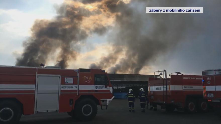 Video Požár v Litvínově - záběry iReportéra Petra Fryga a z mobilů