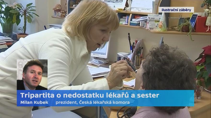 Video Prezident ČLK Milan Kubek o nedostatku lékařů a sester