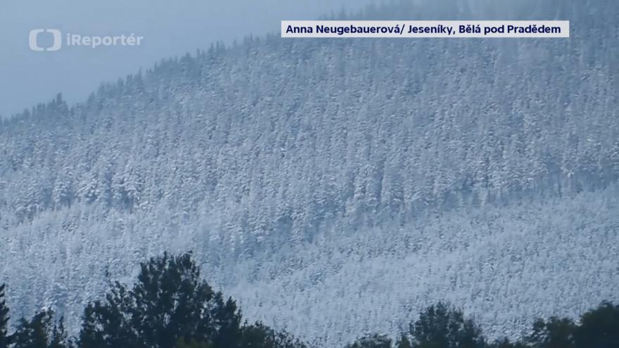 Video První letošní sníh hlásí i Jeseníky