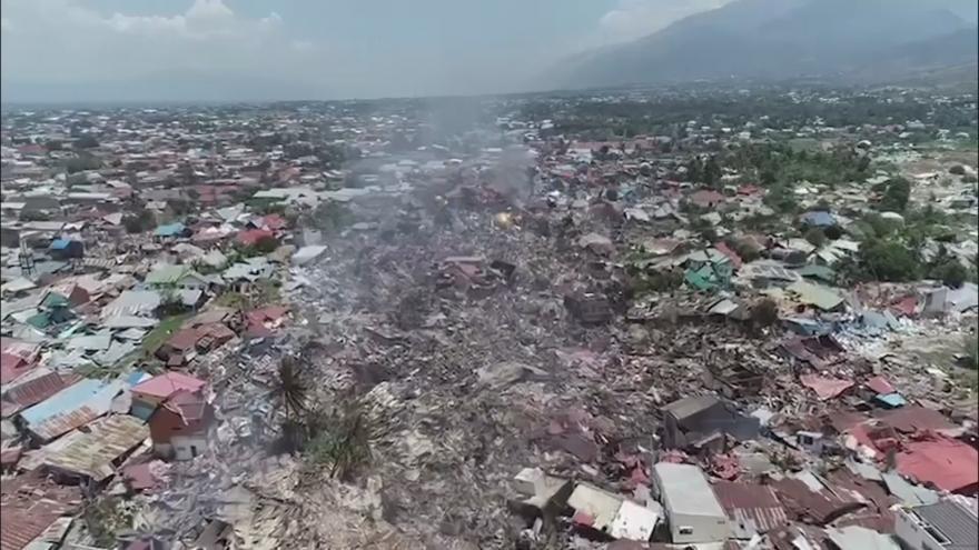 Video Indonéské Palu po víkendovém zemětřesení