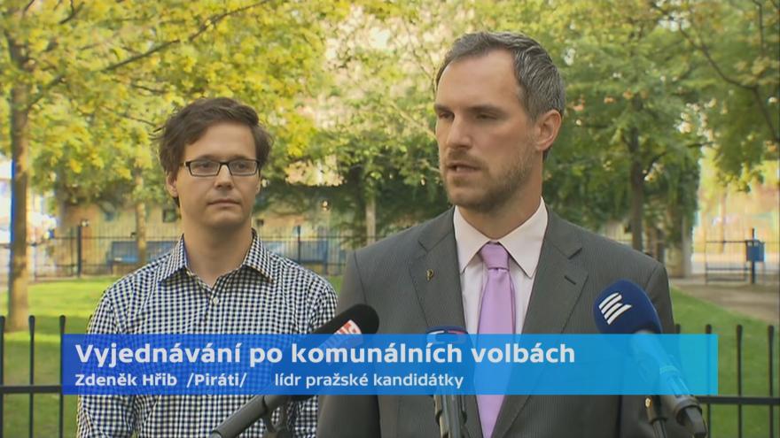 Video Brífink Pirátů k aktuálnímu stavu povolebních vyjednávání v Praze