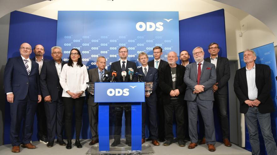 Video Tisková konference ODS, vítězné strany senátních voleb 2018