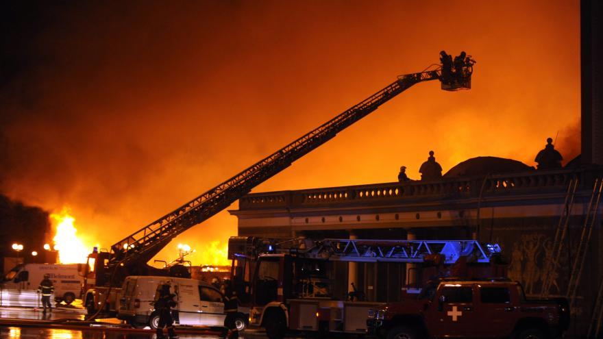 Video Požár na Výstavišti v roce 2008