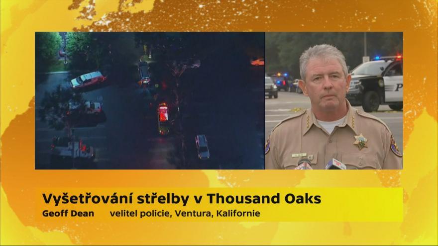 Video Vyšetřování střelby v kalifornském Thousand Oaks