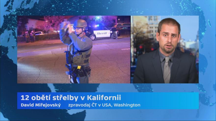 Video Dvanáct obětí střelby v Kalifornii