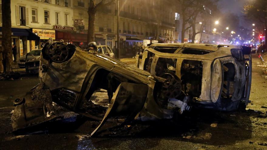 Video Násilné protesty ve Francii