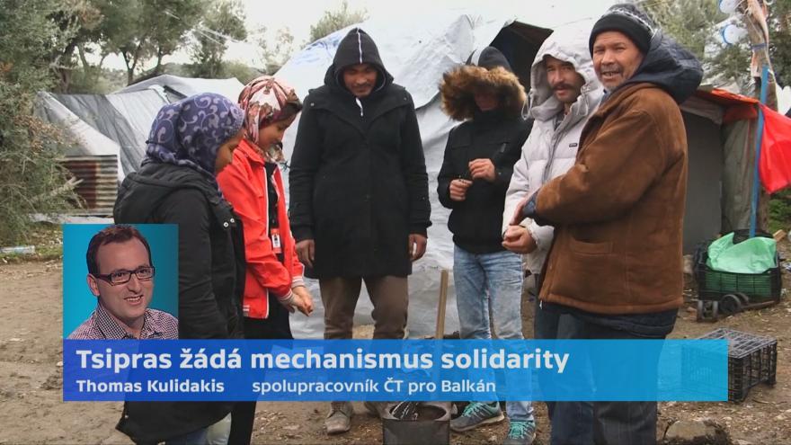 Video Řecký premiér Tsipras žádá mechanismus solidarity
