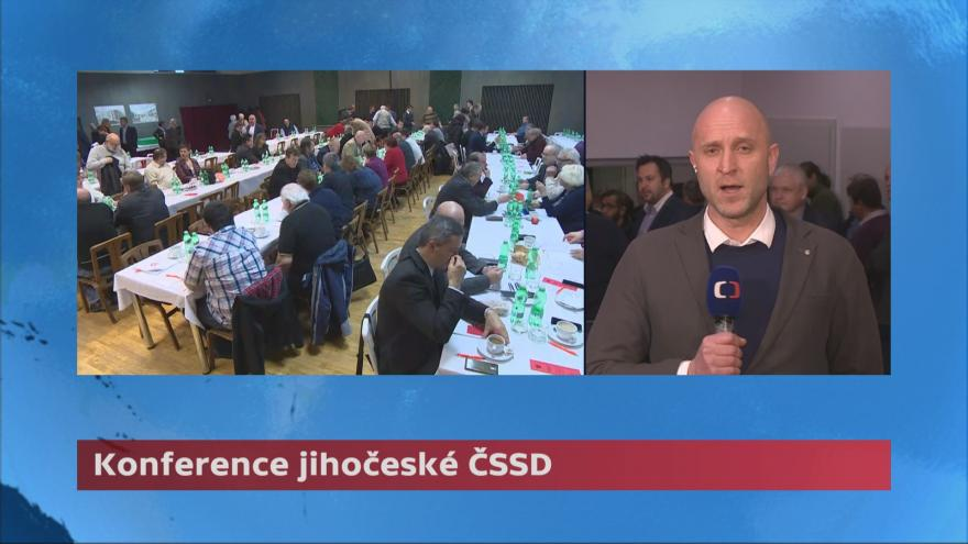 Video Zimola obhájil post šéfa jihočeské ČSSD