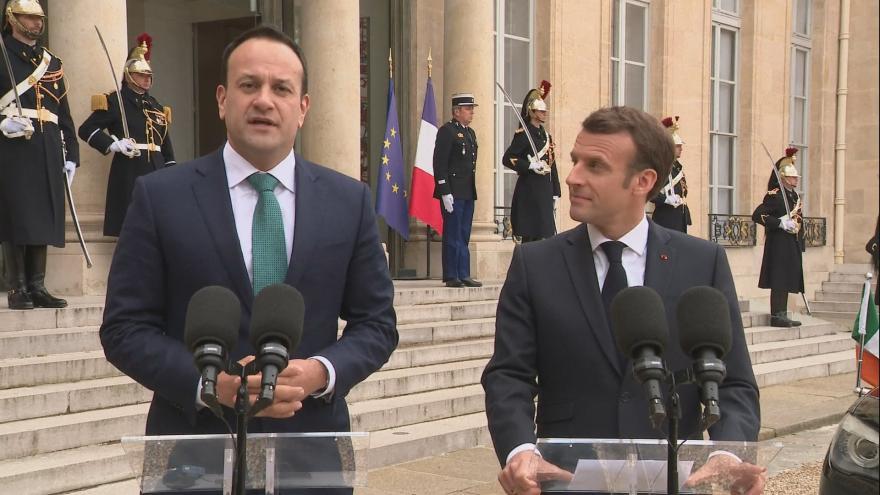 Video Francouzský prezident se setkal s irským premiérem