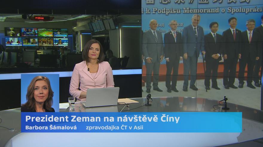 Video Prezident Zeman na návštěvě v Číně