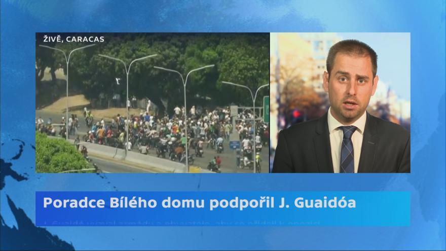 Video Zpravodaj ČT v USA David Miřejovský k situaci ve Venezuele
