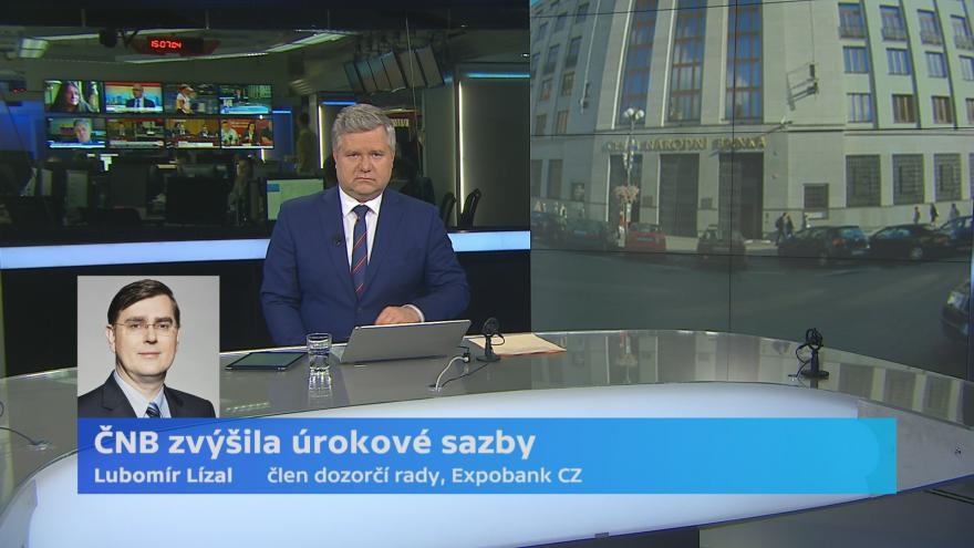 Video ČNB zvýšila úrokové sazby