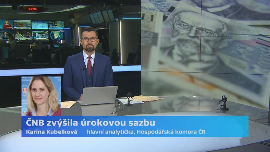 Video ČNB zvýšila úrokovou sazbu