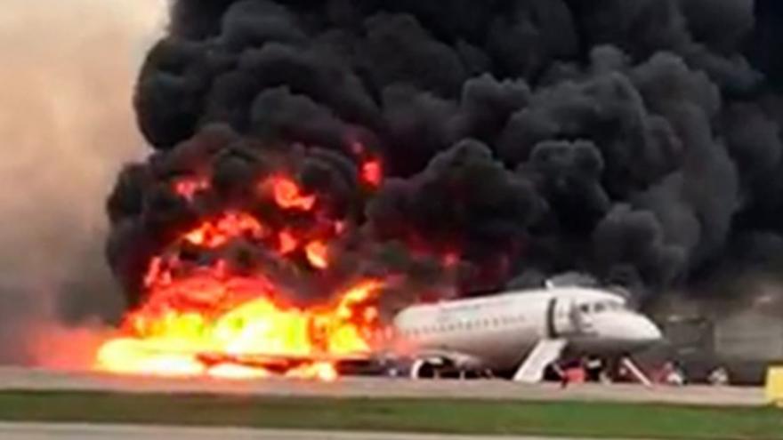Video havárie letounu