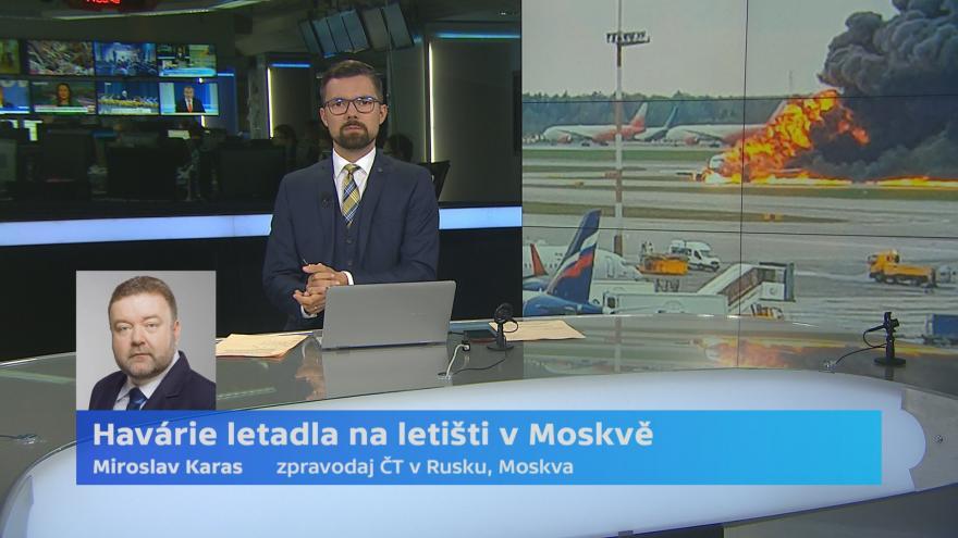Video Havárie letadla na letišti v Moskvě