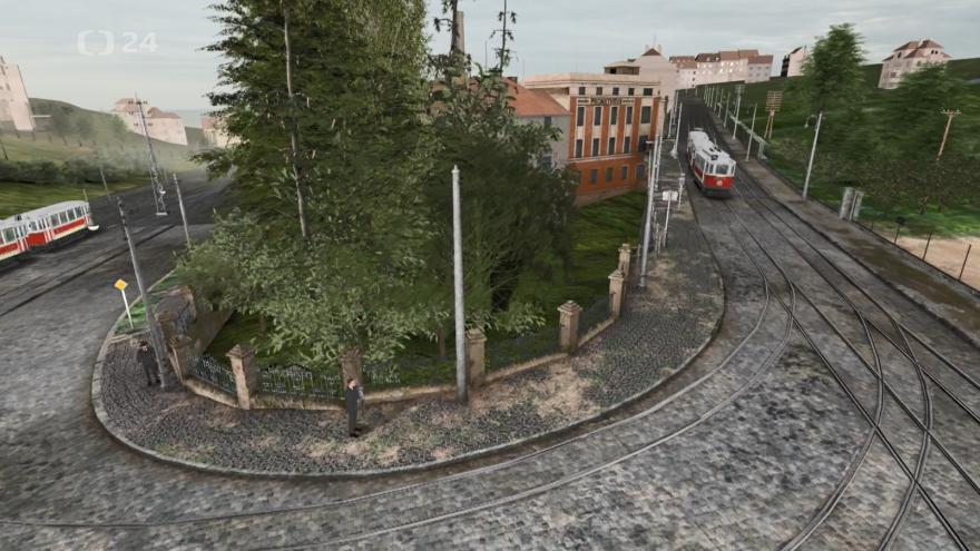 Video 3D model křižovatky v Holešovičkách