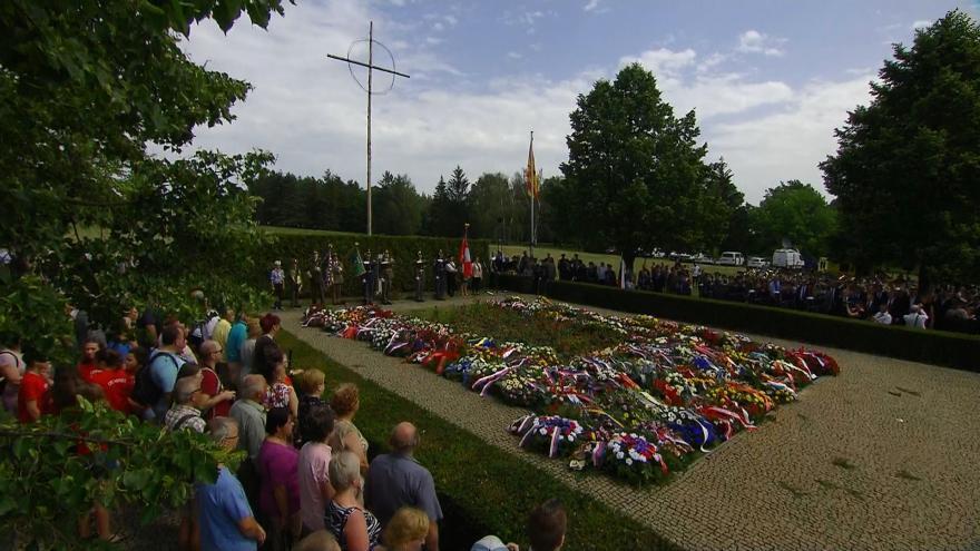 Video Mimořádné pořady ČT24 - Pietní vzpomínka k 77. výročí vyhlazení obce Lidice