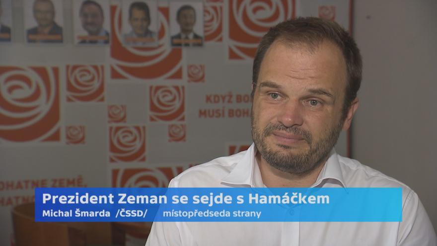 Video Kandidát na ministra kultury Michal Šmarda k setkání s prezidentem Zemanem