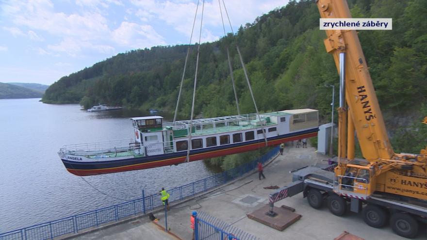 Video Na Orlík byla spuštěna nová výletní loď