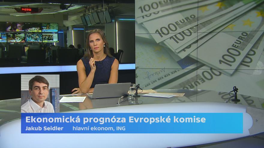 Video Ekonom Jakub Seidler k prognóze Evropské komise