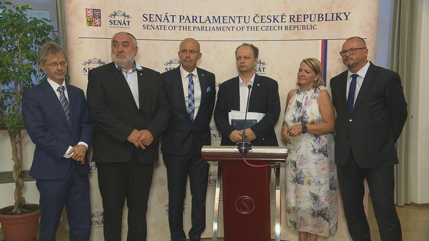 Video Senátoři podpořili návrh ústavní žaloby na prezidenta Miloše Zemana