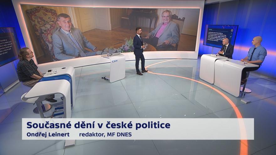 Video 90' ČT24 - Současné dění v české politice