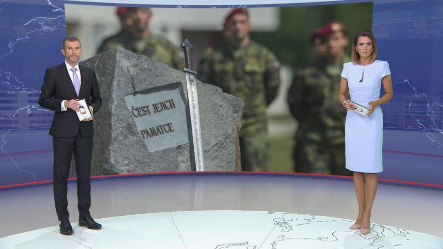 Video Události ČT: V Táboře si připomněli loňskou smrt českých vojáků v Afghánistánu