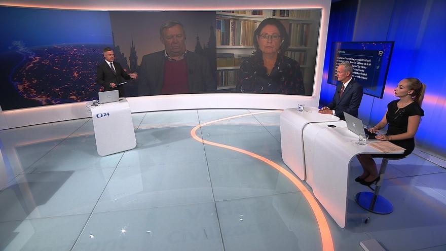 Video 90' ČT24 - Jedná prezident v souladu s ústavou?