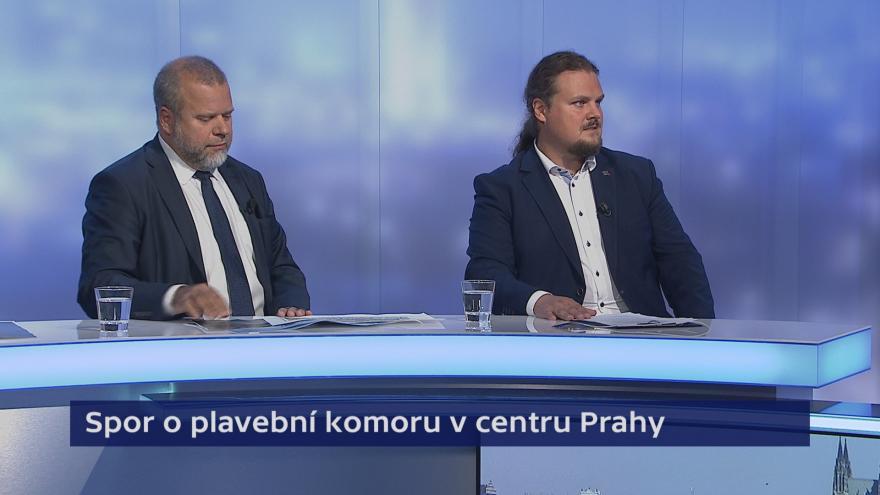 Video Události, komentáře: Spor o plavební komoru v centru Prahy