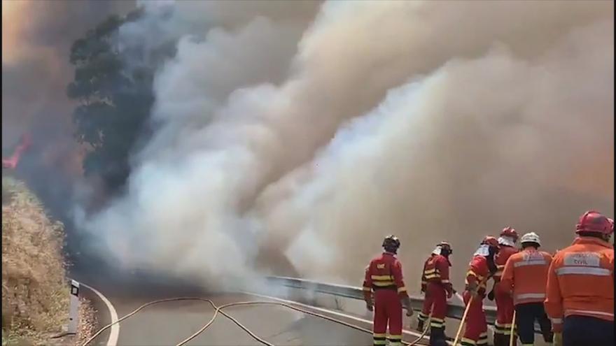 Video Požáry na Gran Canaria se nedaří dostat pod kontrolu. Hašení komplikuje nepřístupný terén