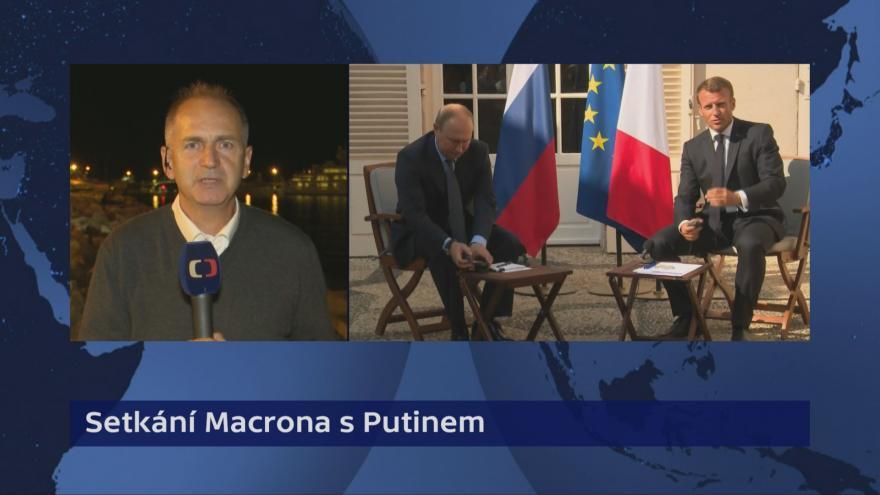 Video Události, komentáře: Putin se setkal s Macronem