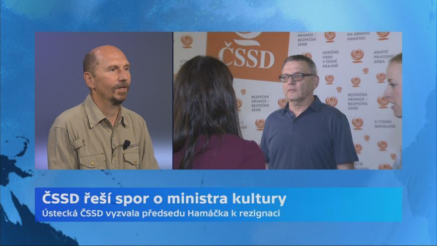 Video ČSSD řeší spor o ministra kultury