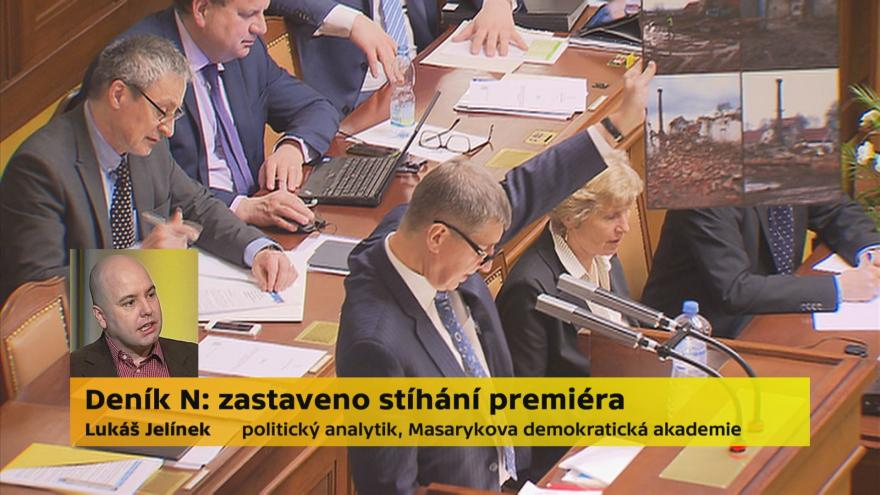 Video Politolog Jelínek k zastavení stíhání Babiše