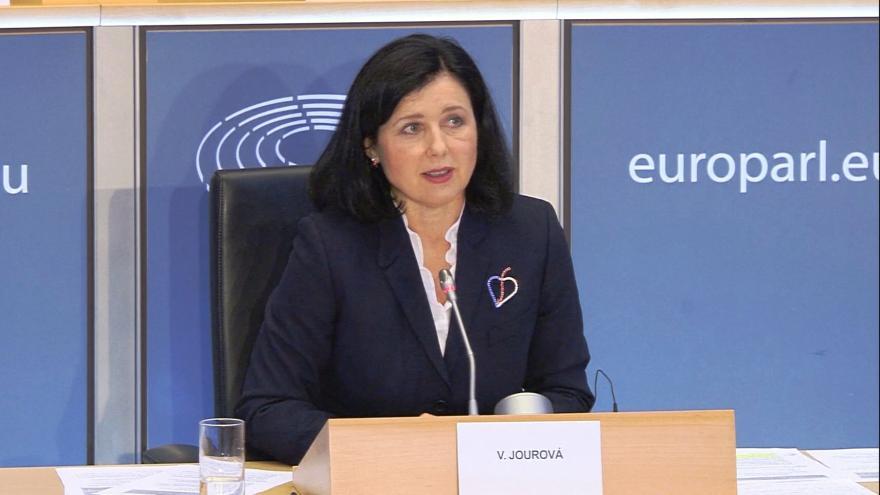 Video Věra Jourová v Evropském parlamentu