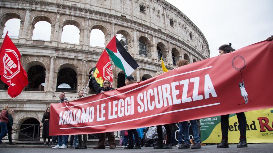 Video Události ČT: Lidé v Římě protestovali proti nenávisti