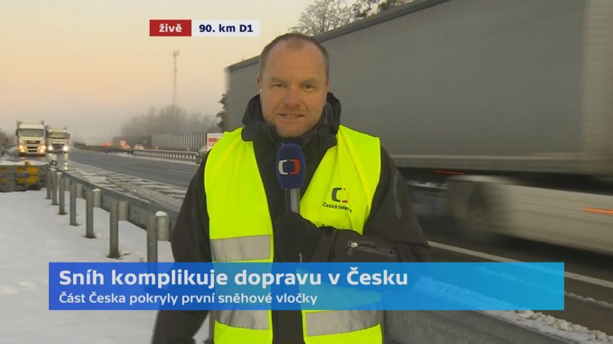 Video Silnice namrzají, jaká je situace na D1 a Vysočině?