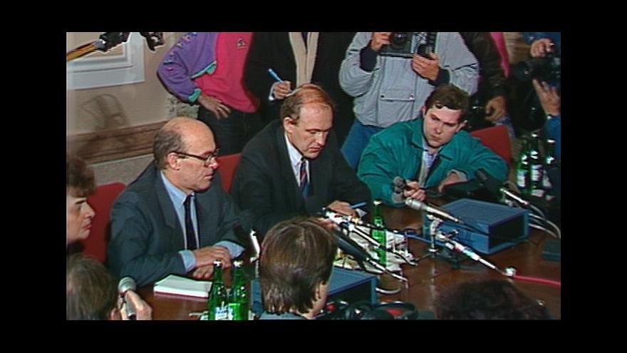Video 1989, tisková konference