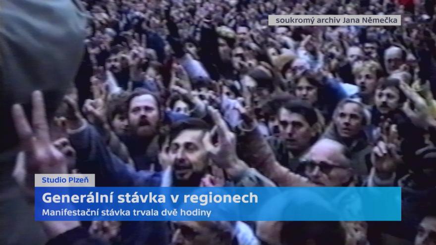 Video Generální stávka v Plzni