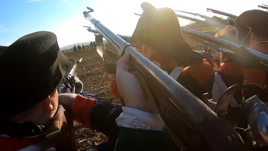 Video Rekonstrukce bitvy u Slavkova. Unikátní pohled přímo z válečné vřavy