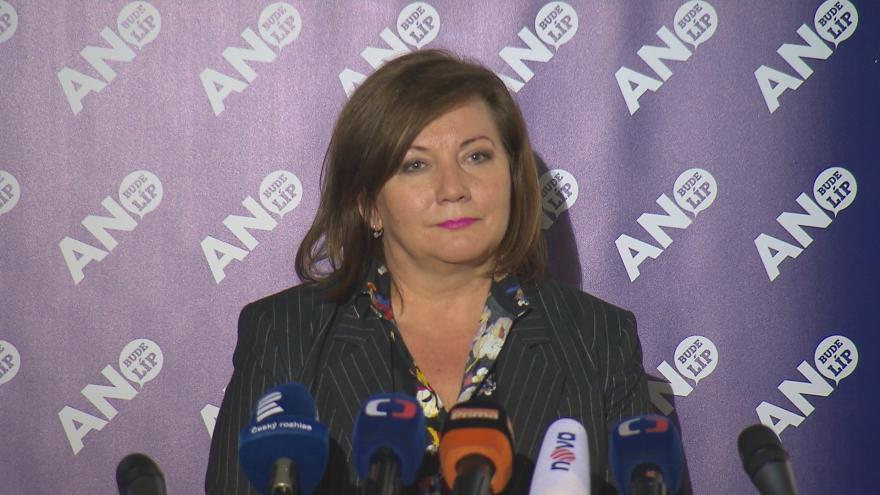 Video Ministryně financí Alena Schillerová (za ANO) k vydávání restriktivních opatření
