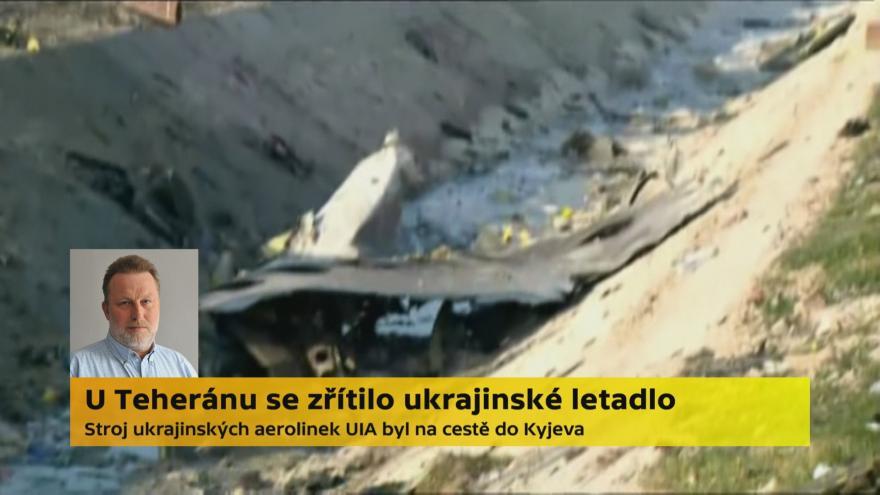Video Letecký publicista Martin Salajka ke zřícení ukrajinského letounu