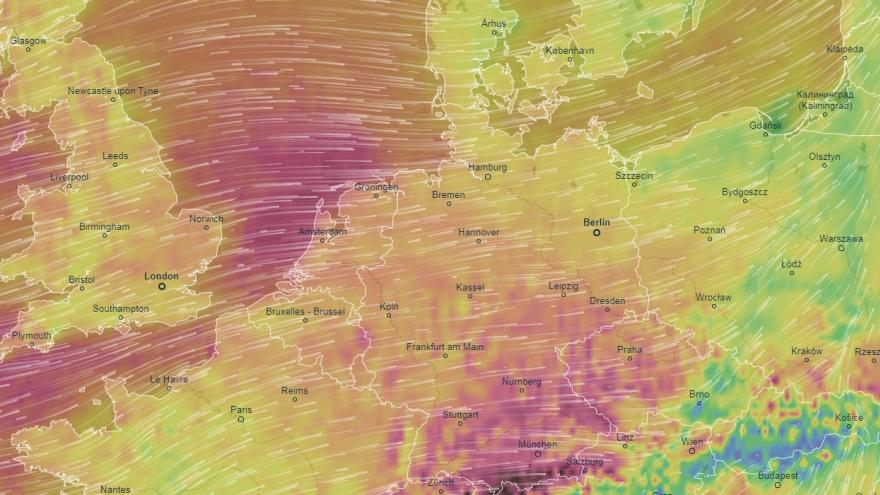 Video Přes Evropu se žene bouře Sabine. Podívejte se, jak vítr od nedělního večera až do pondělního poledne postupoval