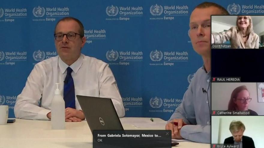 Video Tisková konference Světové zdravotnické organizace 8. dubna