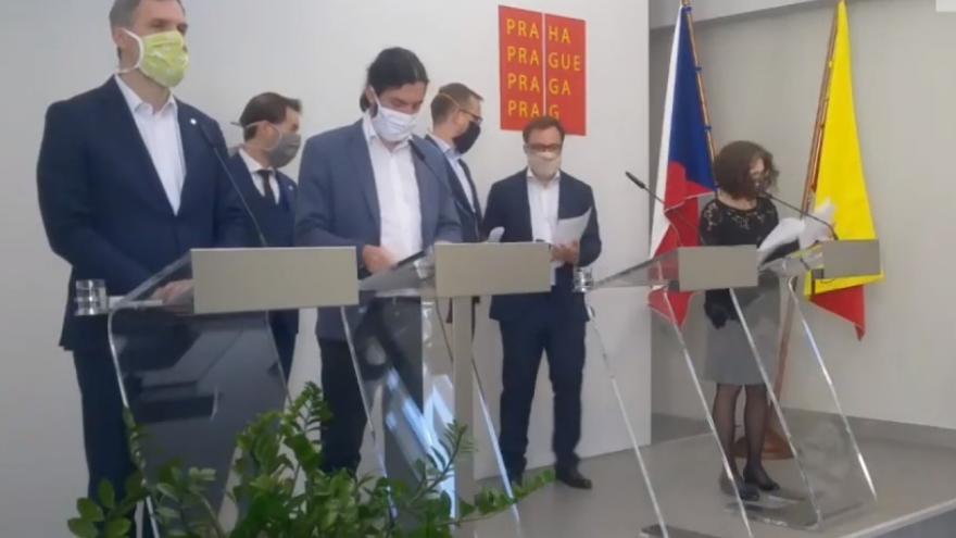 Video Tisková konference po jednání rady hlavního města Prahy 20. dubna