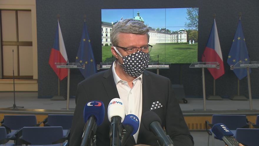 Video Brífink ministra Karla Havlíčka 23. dubna