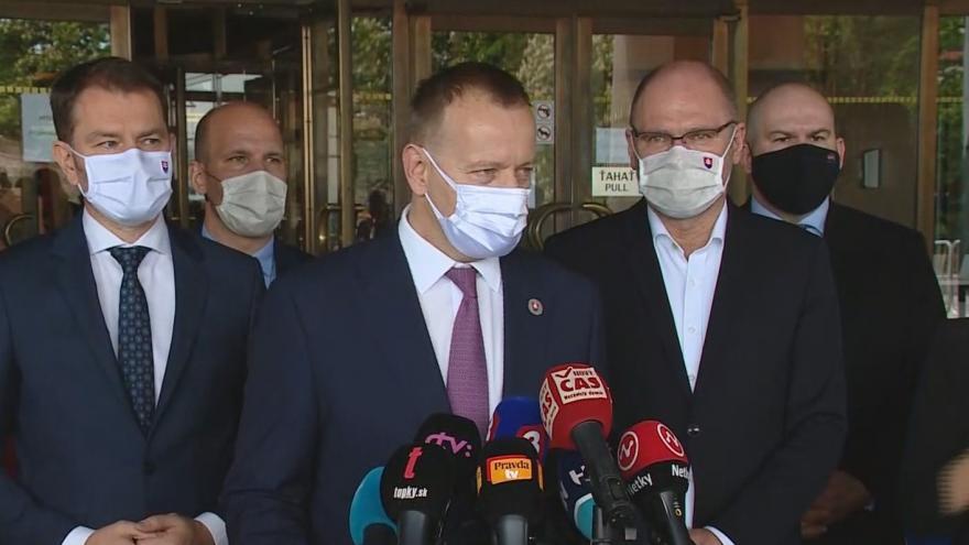 Video Slovenská vláda získala důvěru parlamentu