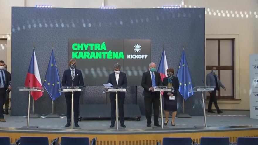 Video Brífink čelních představitelů vlády o fungování chytré karantény ze 7. května
