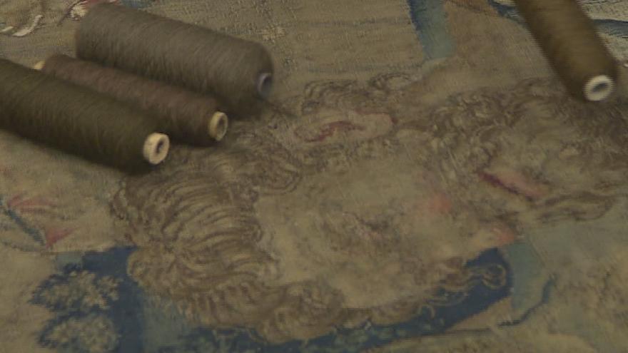 Video Překvapení při restaurování tapiserie. Je úplně jiná, než se myslelo