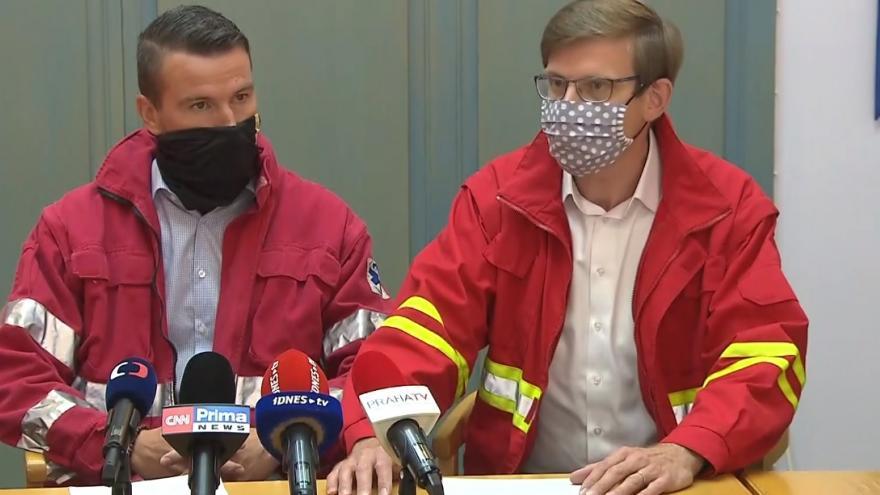 Video Tisková konference k podpoře středočeských záchranářů
